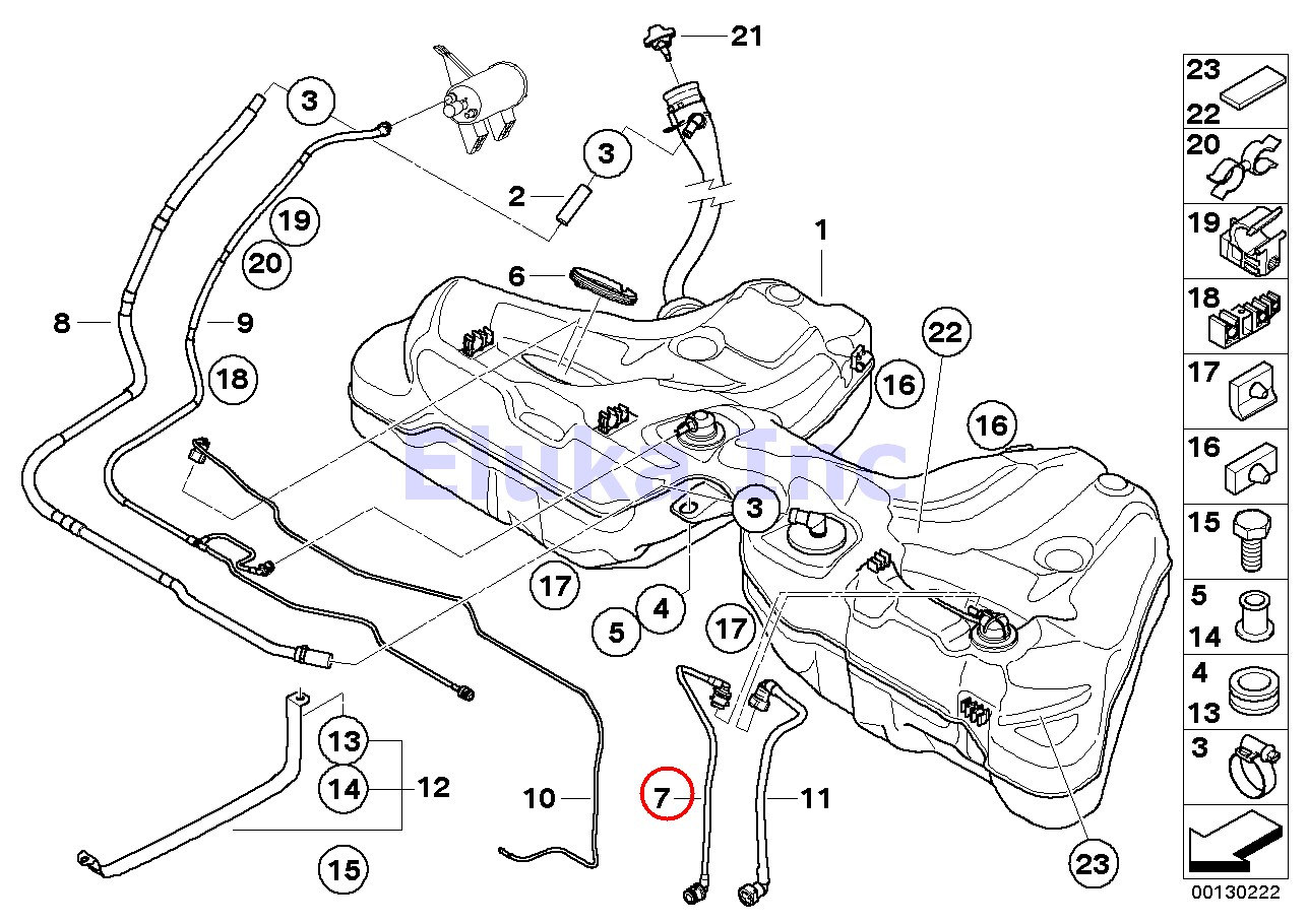 Bmw Genuine Fuel Line In Tank Fuel Filter Assembly To