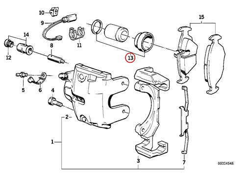 2 X Bmw Genuine Repair Kit Brake Caliper Front E30 E36